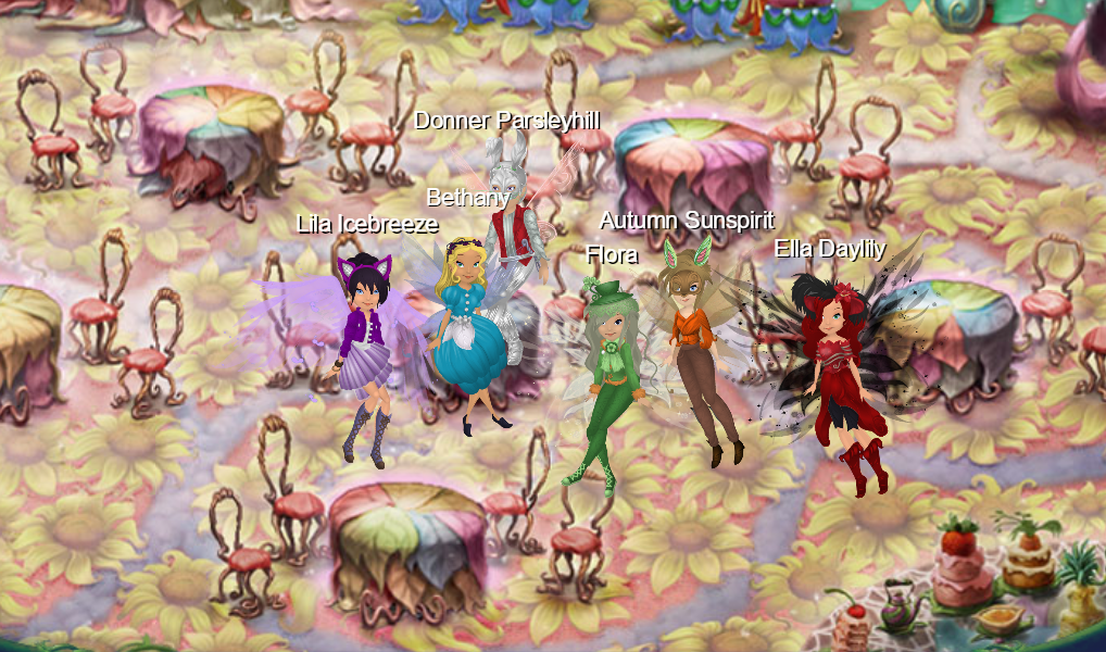 Alice in Wonderland Cast in Tearoom.png