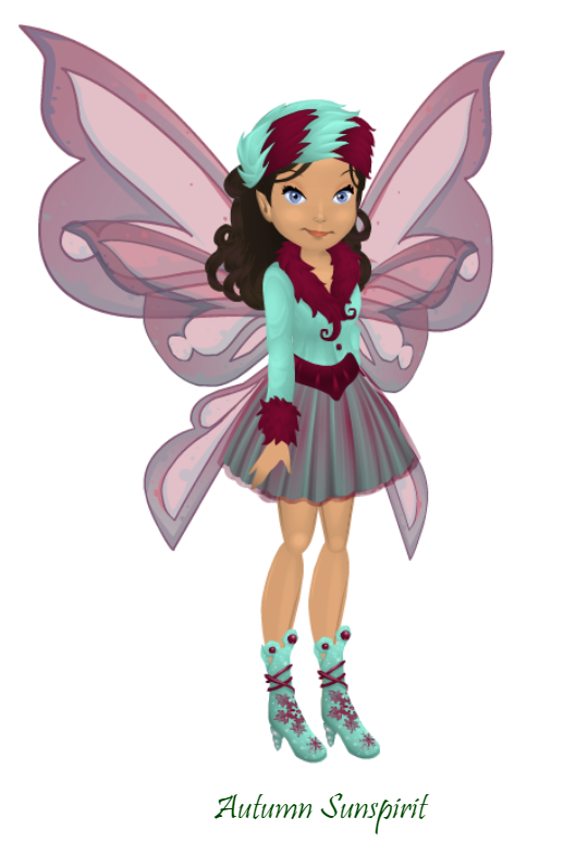 Autumn - Teal & Raspberry Outfit.png