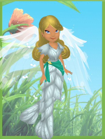 Dressed up as Odette from The Swan Princess.